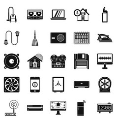 software icons set simple style vector image
