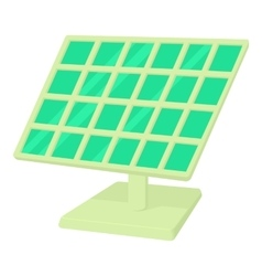 Solar panel icon cartoon style vector