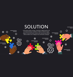 solution business concept communication vector image