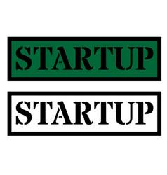 Startup sign on white vector