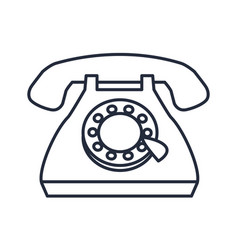 Telephone call communication device icon vector