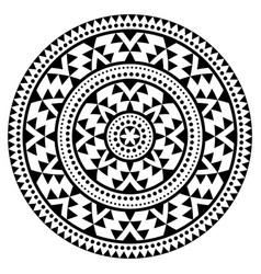 tribal aztec mandala pattern bohemian vector image