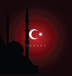Turkey travel landmarks vector