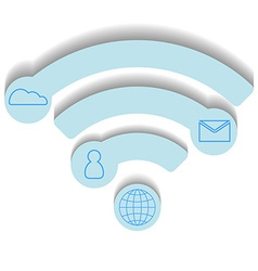wifi icon infographic concept blue design vector image