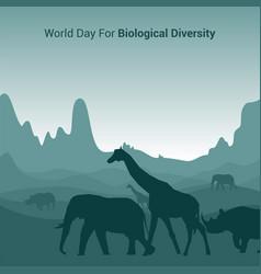 World day for biological diversity vector