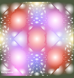Background with colorful abstract ornament neon vector