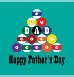 billiards fathers day vector image