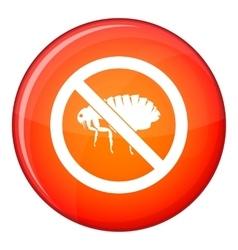 No flea sign icon flat style vector