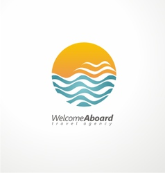 Travel agency creative symbol concept vector image vector image