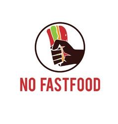 No fastfood emblem vector