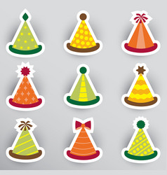 party hats vector image vector image