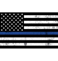 Police law enforcement grunge flag vector