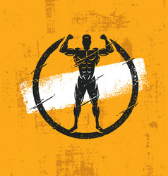 strong man athlete fitness workout rough vector image