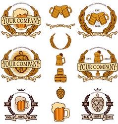 beer labels generator vector image