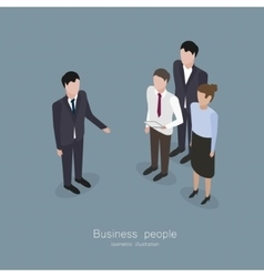 Business boss man vector image