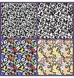 letter alphabet kids pattern vector image vector image
