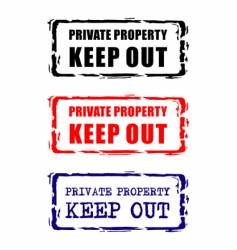 private property stamp vector image vector image