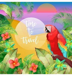 Tropical Vacation Banner Exotic Island Beach vector image vector image