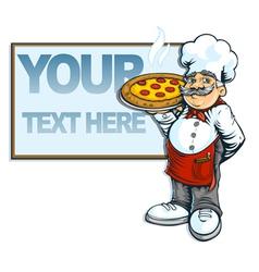 Chef pizzaria vector