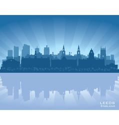 Leeds England skyline vector image vector image
