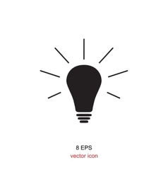 The Light lamp icon vector image