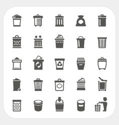 Trash icons set vector image vector image