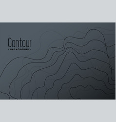 Abstract gray contour lines background design vector