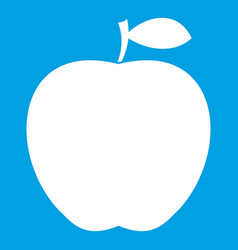 apple icon white vector image