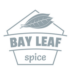 Bay leaf spice logo simple gray style vector