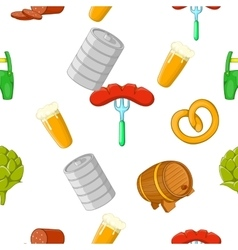 Beer holiday pattern cartoon style vector image
