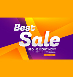 Best sale discount and advertising banner voucher vector