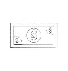 Bills dollar isolated icon vector