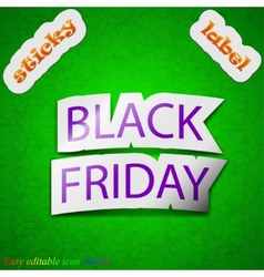Black friday icon sign Symbol chic colored sticky vector