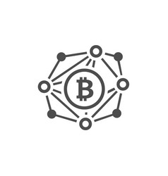Blockchain network icon vector