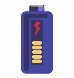 blue colored energy element vector image