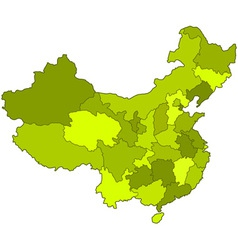 China contour map vector