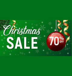christmas sale poster happy new year vector image