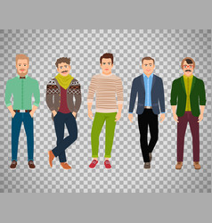confident fashion man on transparent background vector image