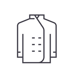 cook dress line icon sign on vector image