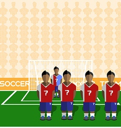 Costa Rica Soccer Club Penalty on Stadium vector