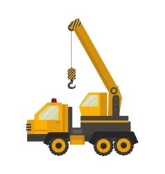 Crane truck vector