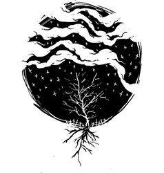 dark rain vector image