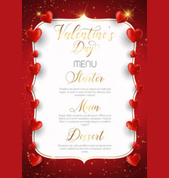 Decorative valentines day menu design vector