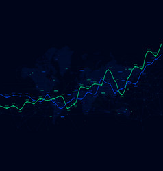 Digital analytics data visualization financial vector