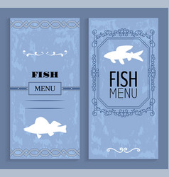 Elegant vintage seafood or fish menu idea vector