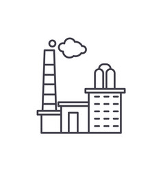 factory line icon concept factory linear vector image