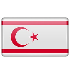 Flags Turkish Northern Cyprus in the form of a vector image