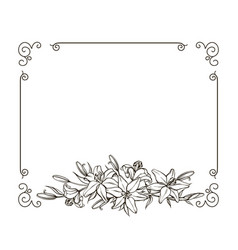 Floral frame with copy space vector