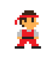 Game character man icon color pixel vector