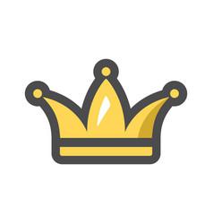 Golden crown for a royal king icon cartoon vector